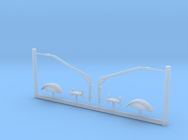 M-ATV - front mirrors, 1/35 scale in Smooth Fine Detail Plastic