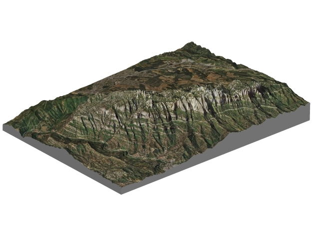 Montserrat Mountains Map: A4 Size