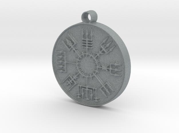 Vegvisir Viking Rune in Polished Metallic Plastic