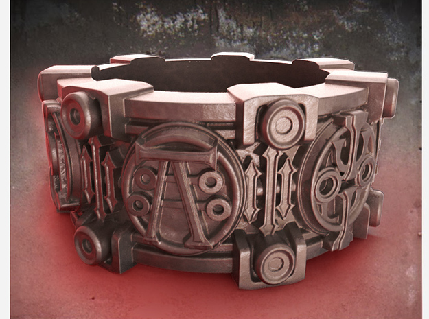 Alchemical Sigil Ring (US Size 10) 3d printed