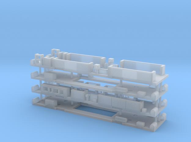 N Gauge Class 325/319 Underframe Set in Smooth Fine Detail Plastic
