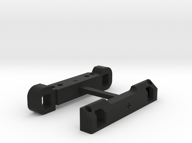 Rear Suspension Mount - F & R +2mm in Black Strong & Flexible