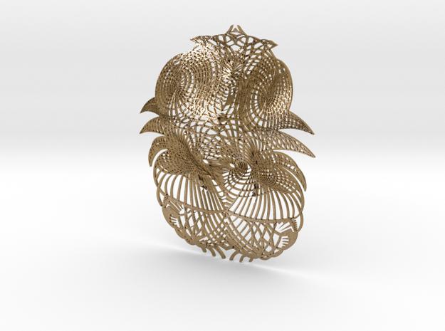 Alhambra fragment in Polished Gold Steel