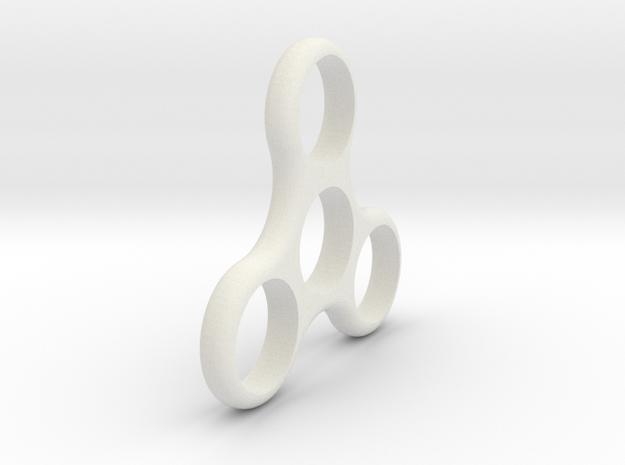 Standard Fidget Spinner in White Natural Versatile Plastic