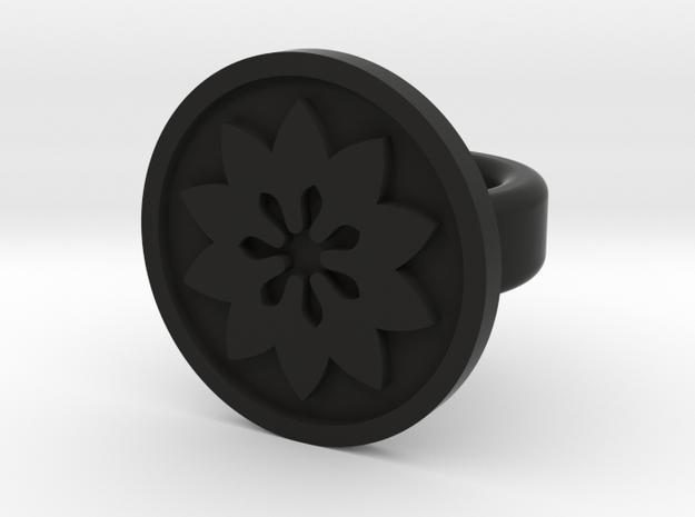 flower ring in Black Strong & Flexible
