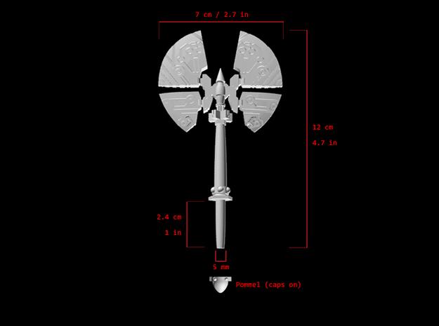 Action Figure Weapon: Split Axe (5mm peg)