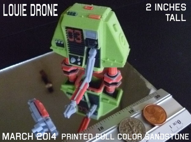 2 Inches DRONE 3 LOUIE Full Color