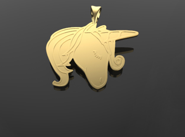 Unicorn pendant in 14k Gold Plated