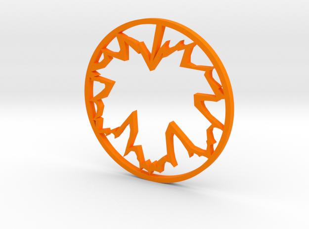 Oak Leaf Pendant in Orange Processed Versatile Plastic