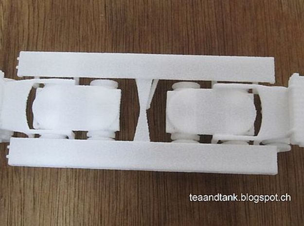 1/144 heavy German tank transporter Sd. Anh. 121 in White Natural Versatile Plastic