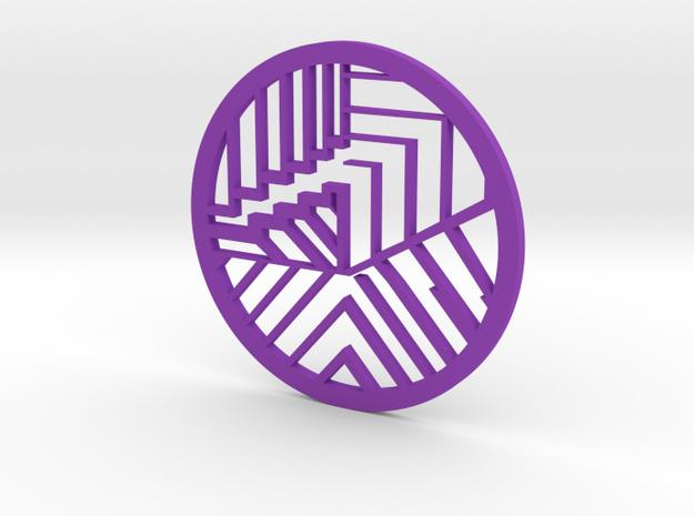 Zen Pendant in Purple Processed Versatile Plastic