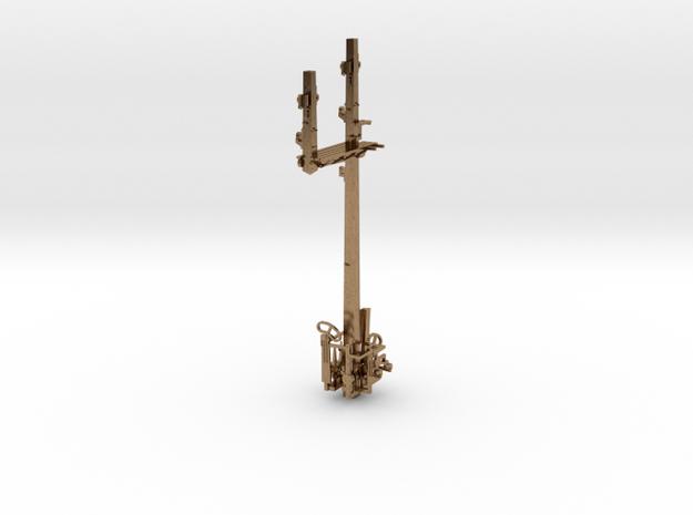 HO NSWR LQ RH Bracket Signal + Parts in Natural Brass