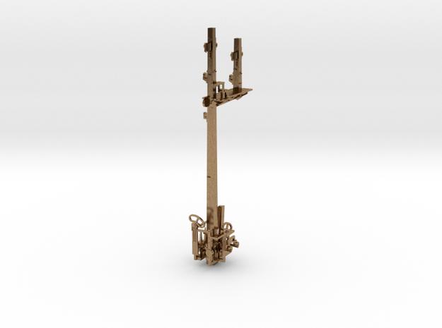 HO NSWR LQ LH Bracket Signal + Parts in Natural Brass