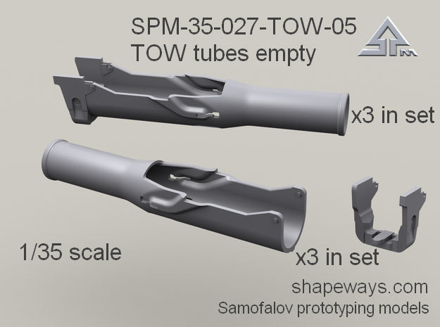 35_SPm027_05_TOW_tubes_empty_s1x35 in Smoothest Fine Detail Plastic