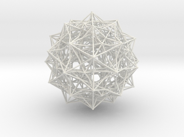Grand 600-cell, small spheres in White Natural Versatile Plastic