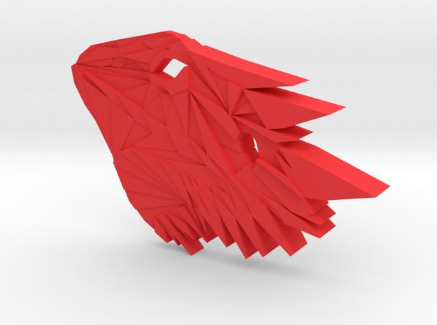 Bearded Dragon Pendant in Red Processed Versatile Plastic