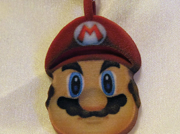 Mario Illusion Pendant - 50mm in Full Color Sandstone