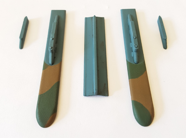 Mirage F1 AZ 14 Bomb Config Pylons Only in Frosted Ultra Detail: 1:72