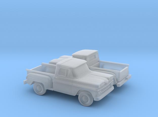 1/160 2X 1961 Chevrolet C-10 Stepside in Smooth Fine Detail Plastic
