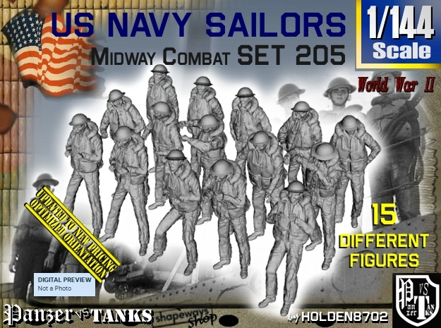1-144 USN Midway set 205 in Frosted Ultra Detail