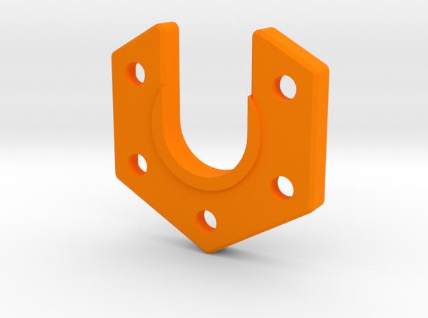 Kossel XL Hotend Klemme - Ndo Design in Orange Processed Versatile Plastic