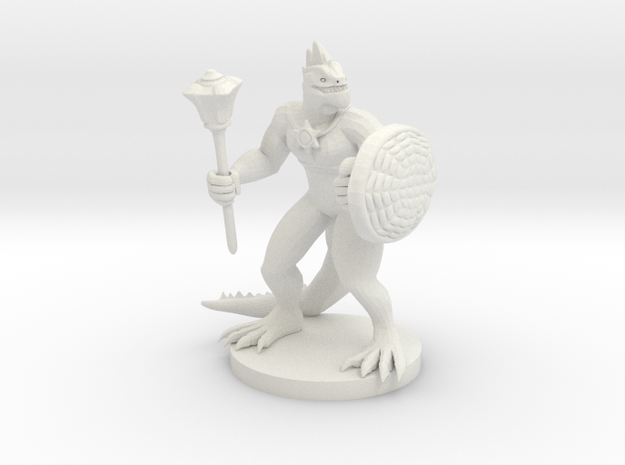 Lizardfolk Cleric in White Strong & Flexible