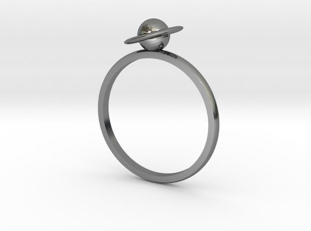 Planet Saturn Ring  in Premium Silver