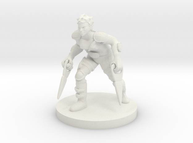 Female Katar Fighting Rogue in White Natural Versatile Plastic