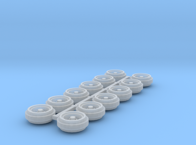 1/64 80s Steel Rims (3 Sets) in Smooth Fine Detail Plastic
