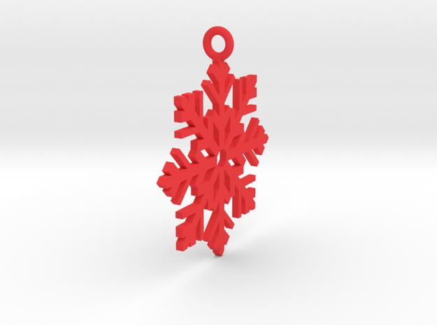 Snow Fall in Red Processed Versatile Plastic