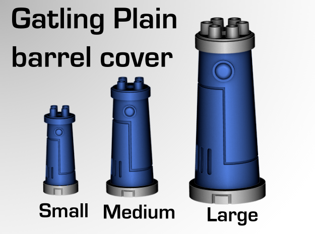 Gatling Barrels Cover (Plain) in Frosted Ultra Detail: d6