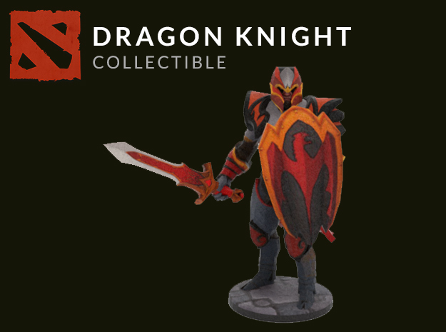 Dragon-Knight in Full Color Sandstone
