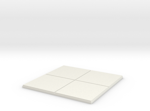 "2x2 for 1.25"" grid. 0 walls. in White Strong & Flexible"