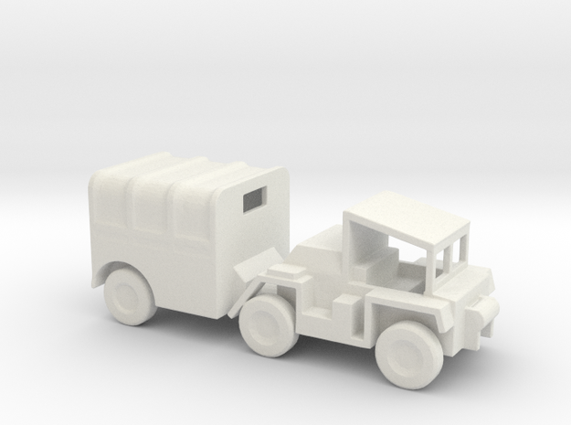 1/120 Scale M561 Gama Goat Covered in White Natural Versatile Plastic