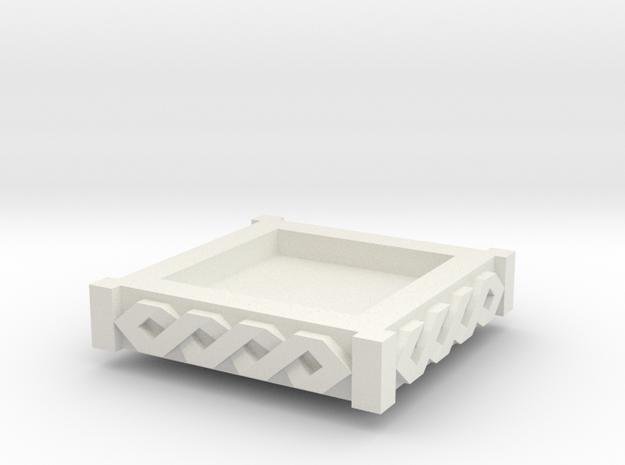 Modular Objective D6holder  topper [space viking] in White Natural Versatile Plastic