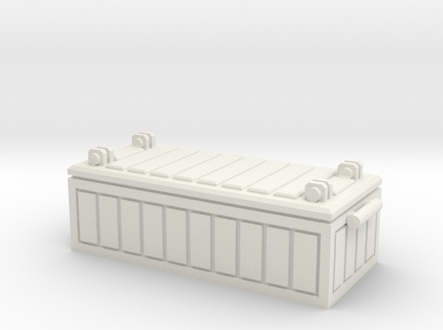 32mm Fallout Crate Enclave in White Natural Versatile Plastic