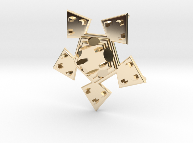 Pendant Veste in 14k Gold Plated Brass