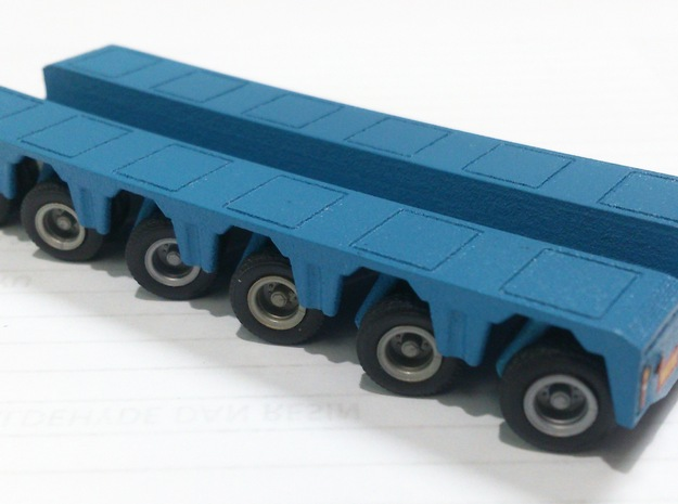 1/87 PX 6-Axle Rear Module in Smooth Fine Detail Plastic
