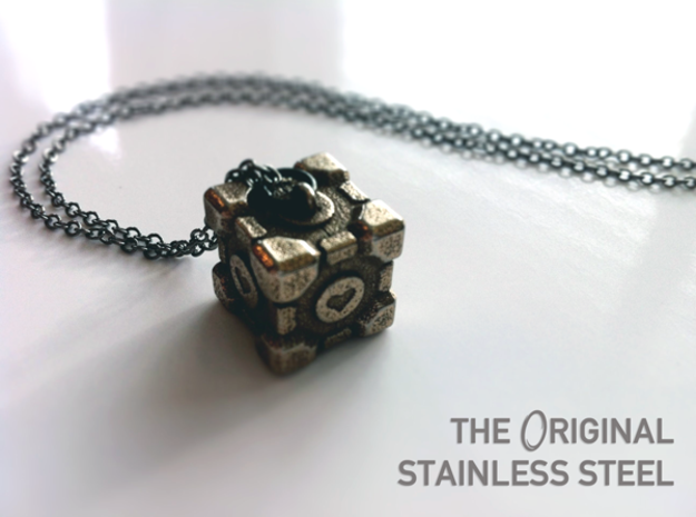 Weighted Companion Cube Pendant