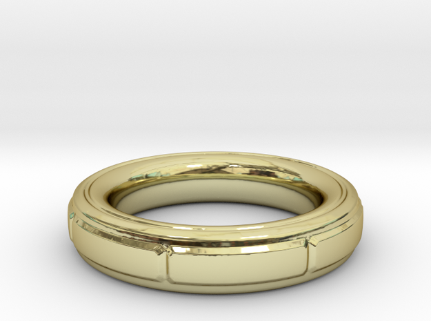 ring in 18k Gold Plated Brass