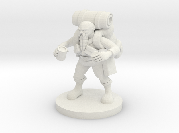 Dwarf Wizard Gathering Components in White Natural Versatile Plastic