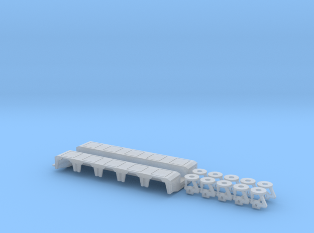1/87 PX 5-Axle Rear Module  in Smooth Fine Detail Plastic