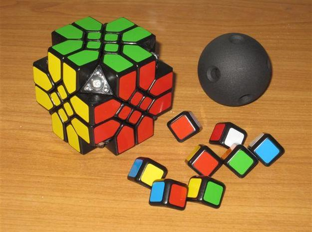 Mosaic Cube Sphere Core 3d printed Taking off the corners