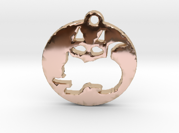 Look twice--Is it a kitten or a Kat? in 14k Rose Gold Plated Brass