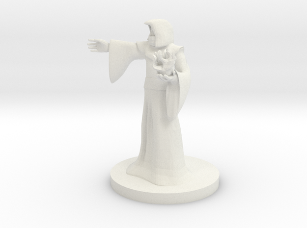 Human Male Sorcerer in White Natural Versatile Plastic