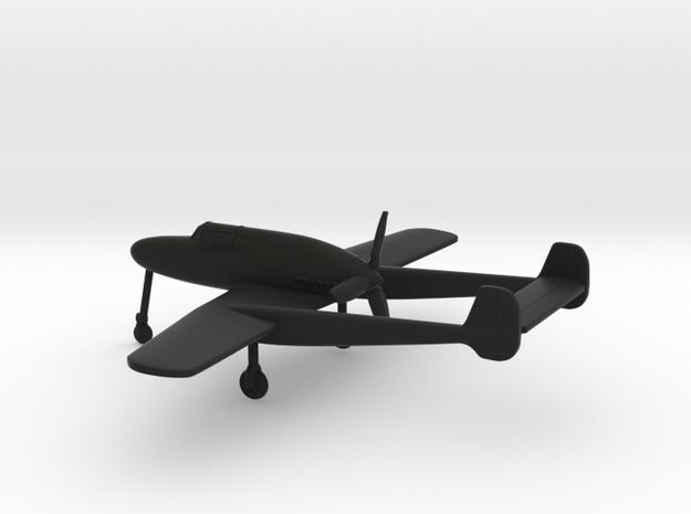 Saab J.21A in Black Natural Versatile Plastic: 1:160 - N