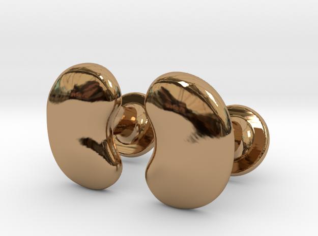 Milnerfield Salk Cufflinks - Pair in Polished Brass