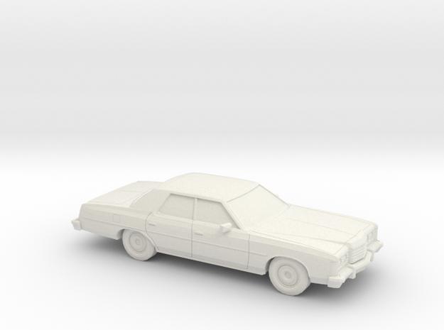 1/87 1974 Ford LTD Sedan in White Natural Versatile Plastic