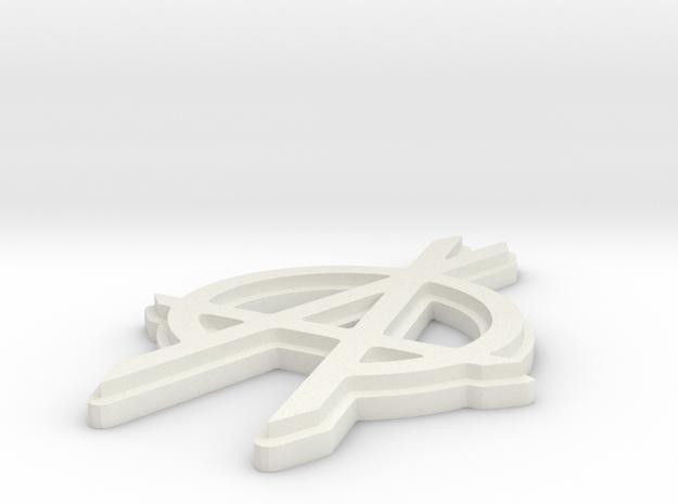 OPA fanart keychain in White Natural Versatile Plastic