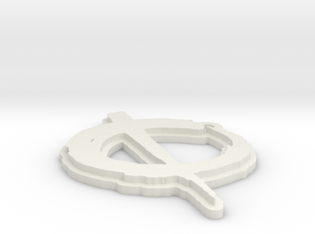 OPA fan art keychain 2 in White Natural Versatile Plastic
